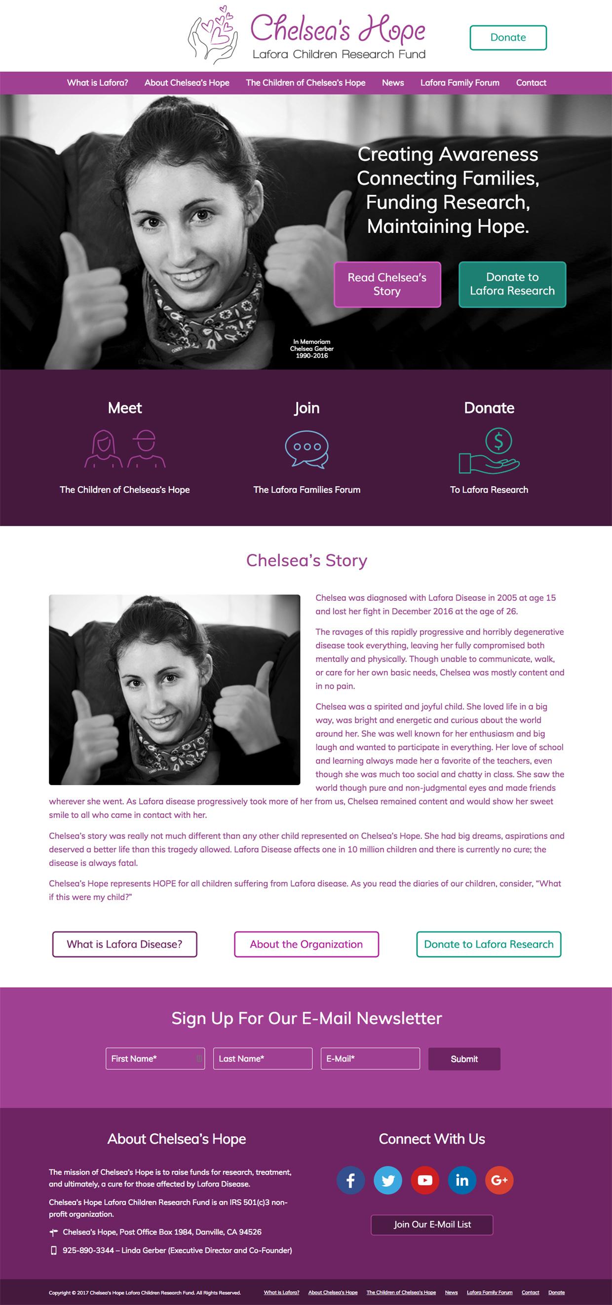 Chelsea's Hope Homepage
